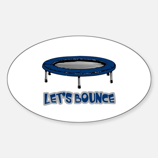 Let's Bounce Trampoline Oval Decal