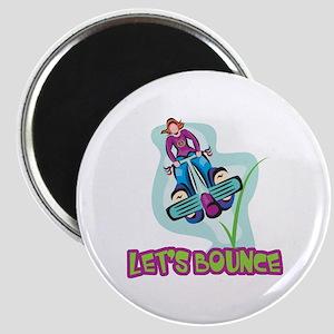 Let's Bounce Pogo Stick Magnet