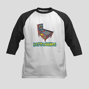 Let's Bounce Pinball Machine Kids Baseball Jersey