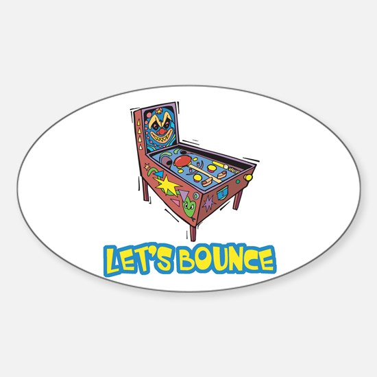 Let's Bounce Pinball Machine Oval Decal