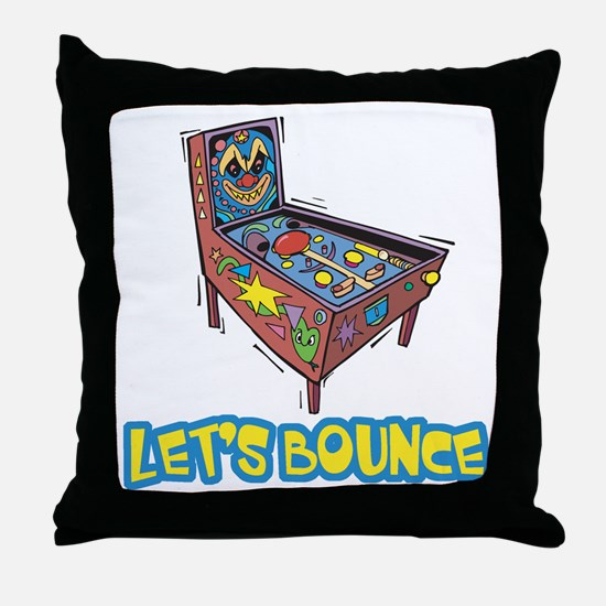 Let's Bounce Pinball Machine Throw Pillow