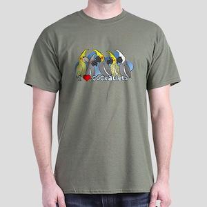 Cockatiel Colors Dark Tee Shirt