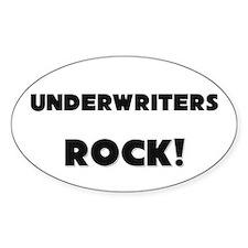 Underwriters ROCK Oval Sticker