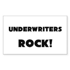 Underwriters ROCK Rectangle Sticker