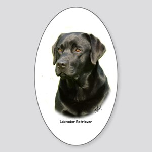 Labrador Retriever 9A054D-23a Sticker (Oval)
