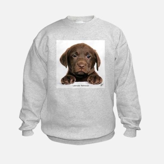 Chocolate Labrador Retriever puppy 9Y270D-050 Sweatshirt