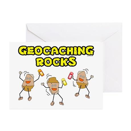 Geocaching Rocks Greeting Cards (Pk of 20)
