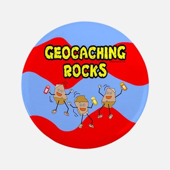 "Geocaching Rocks 3.5"" Button"