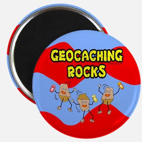 "Geocaching Rocks 2.25"" Magnet (100 pack)"