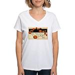 Halloween Greetings Women's V-Neck T-Shirt