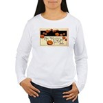 Halloween Greetings Women's Long Sleeve T-Shirt