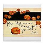 Halloween Greetings Tile Coaster