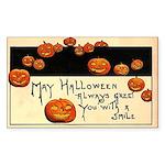 Halloween Greetings Rectangle Sticker 10 pk)