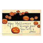 Halloween Greetings Postcards (Package of 8)