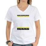 Transparent when Wet! Women's V-Neck T-Shirt