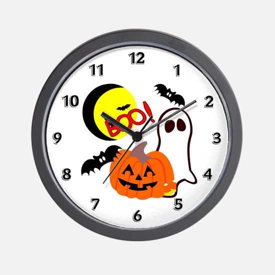 Halloween Boo Friends Wall Clock