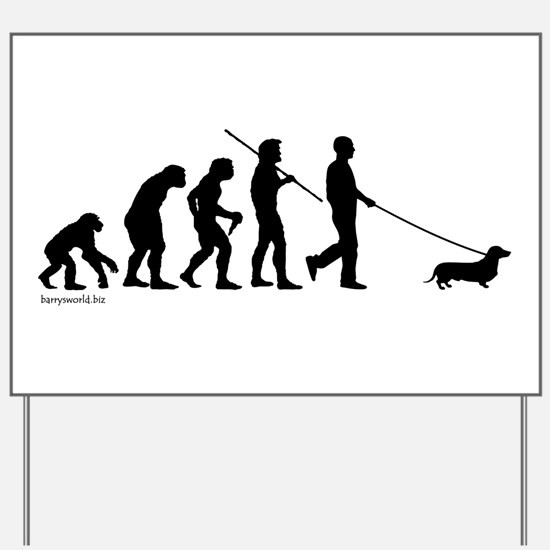 Dachshund Evolution Yard Sign