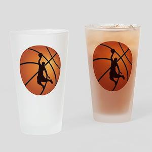 Basketball dunk Drinking Glass