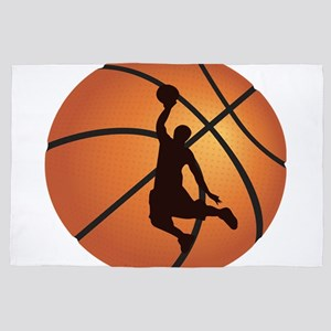 Basketball dunk 4' x 6' Rug