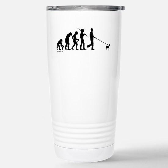 Chihuahua Evolution Stainless Steel Travel Mug