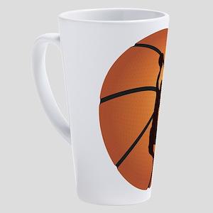 Basketball dunk 17 oz Latte Mug