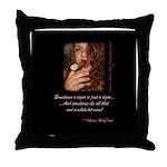 Smokey Kisses Throw Pillow