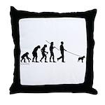 Boxer Evolution Throw Pillow