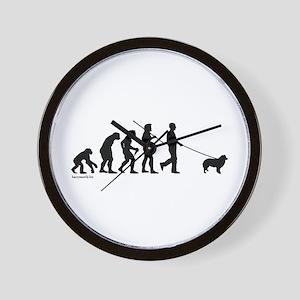 Border Collie Evolution Wall Clock