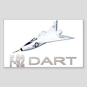 XF-92 / F-92 Dart Rectangle Sticker