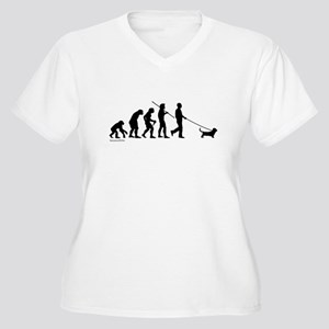 Basset Evolution Women's Plus Size V-Neck T-Shirt
