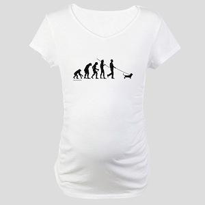 Basset Evolution Maternity T-Shirt