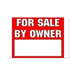 For Sale By Owner Mini Poster Print