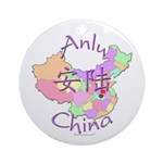 Anlu China Map Ornament (Round)