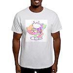 Anlu China Map Light T-Shirt