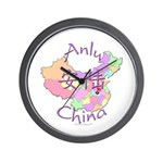 Anlu China Map Wall Clock