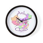 Anlu China Map Wall Clock