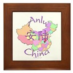 Anlu China Map Framed Tile