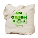 Go Green Wyoming Reusable Tote Bag