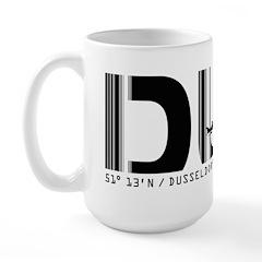 Dusseldorf Airport Code Germany DUS Large Mug