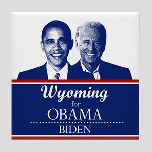Wyoming for Obama Tile Coaster
