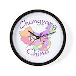Changyang China Map Wall Clock