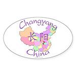 Changyang China Map Oval Sticker