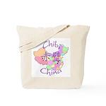 Chibi China Map Tote Bag