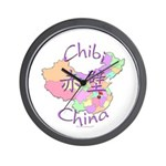 Chibi China Map Wall Clock