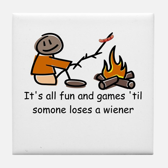 Someone Loses a Wiener Tile Coaster