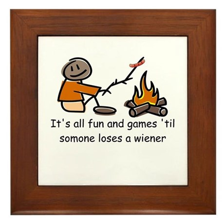 Someone Loses a Wiener Framed Tile