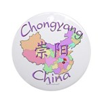 Chongyang China Map Ornament (Round)
