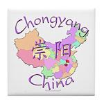 Chongyang China Map Tile Coaster