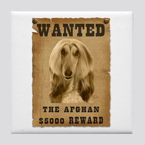 """Wanted"" Afghan Tile Coaster"