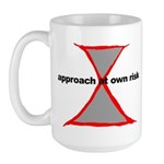 Approach At Own Risk Large Mug